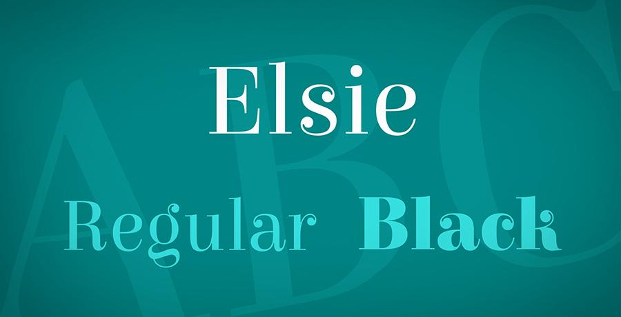 Elsie - Free Serif Fonts