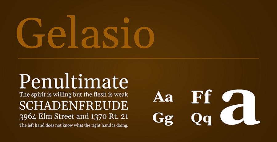 Gelasio - Best Serif Fonts