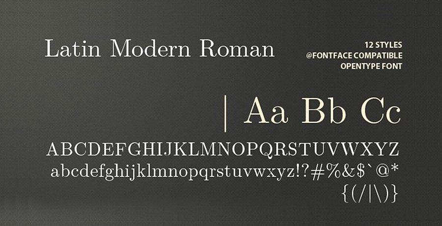 Latin Modern Roman - Best Free Serif Font