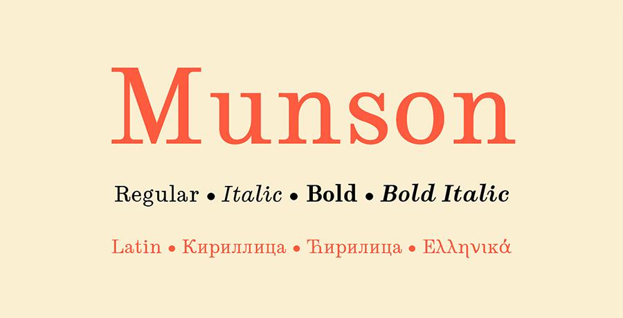 Munson - Best Free Serif Font