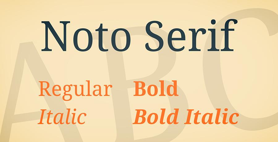 Noto Serif - Best Serif Fonts