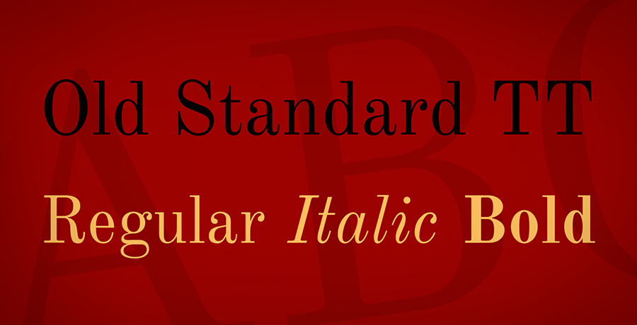 Old Standard TT - Font For Logo Design