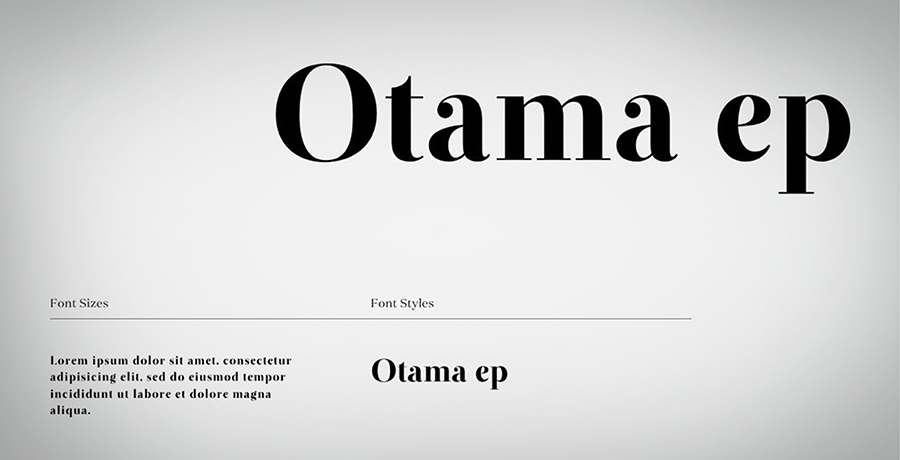 Otama E.P - Font For Branding
