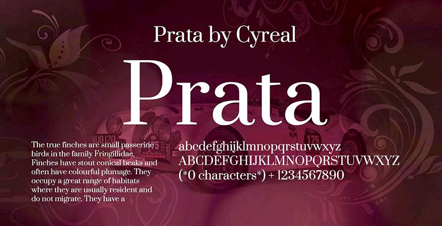 Prata - Font For Branding