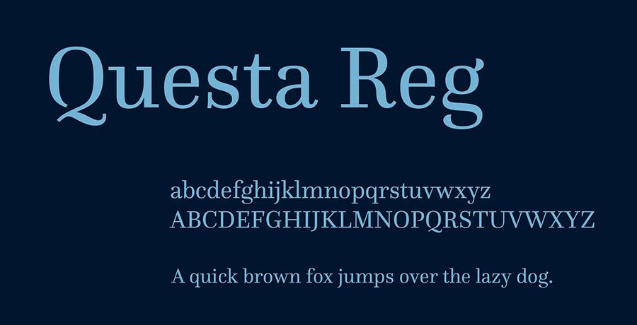 Questa - Free Serif Fonts