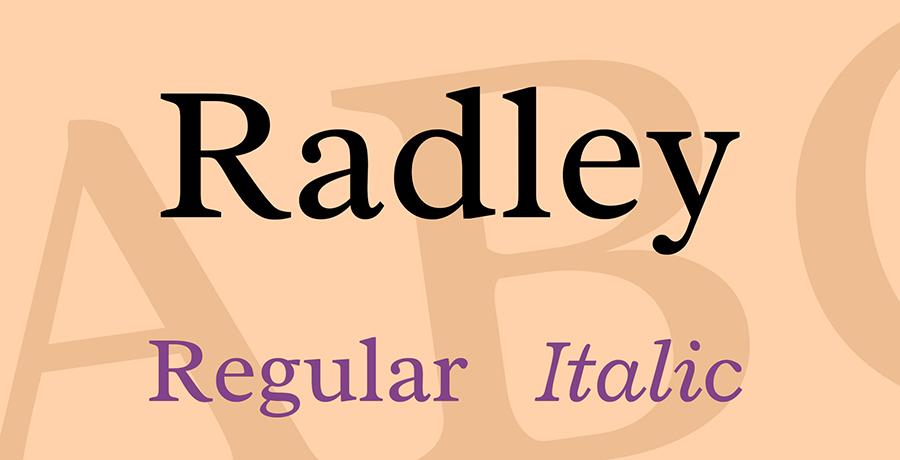 Radley - Font For Logo Design