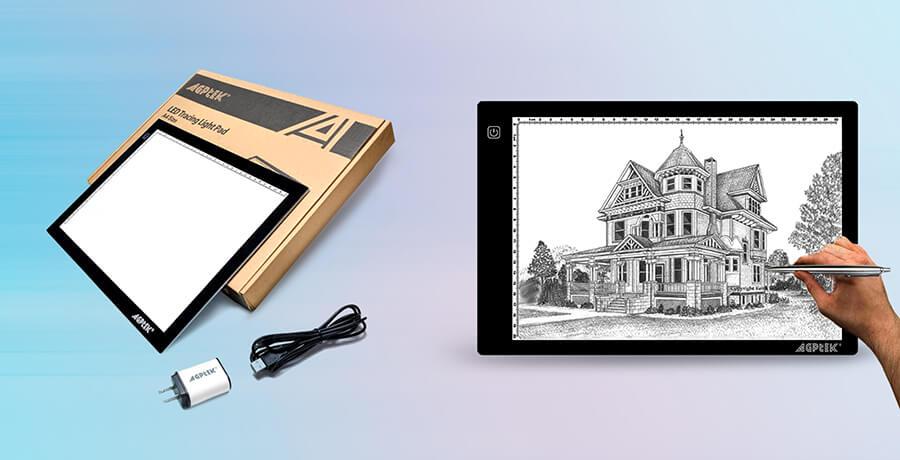 AGPtek A4 Ultra-Thin Portable LED Light Box