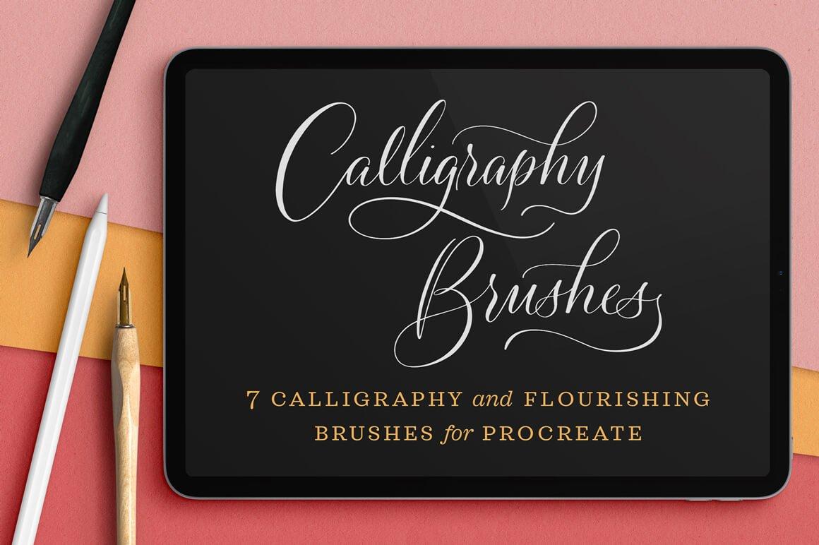 Calligraphy Nibs Procreate Brush Pack