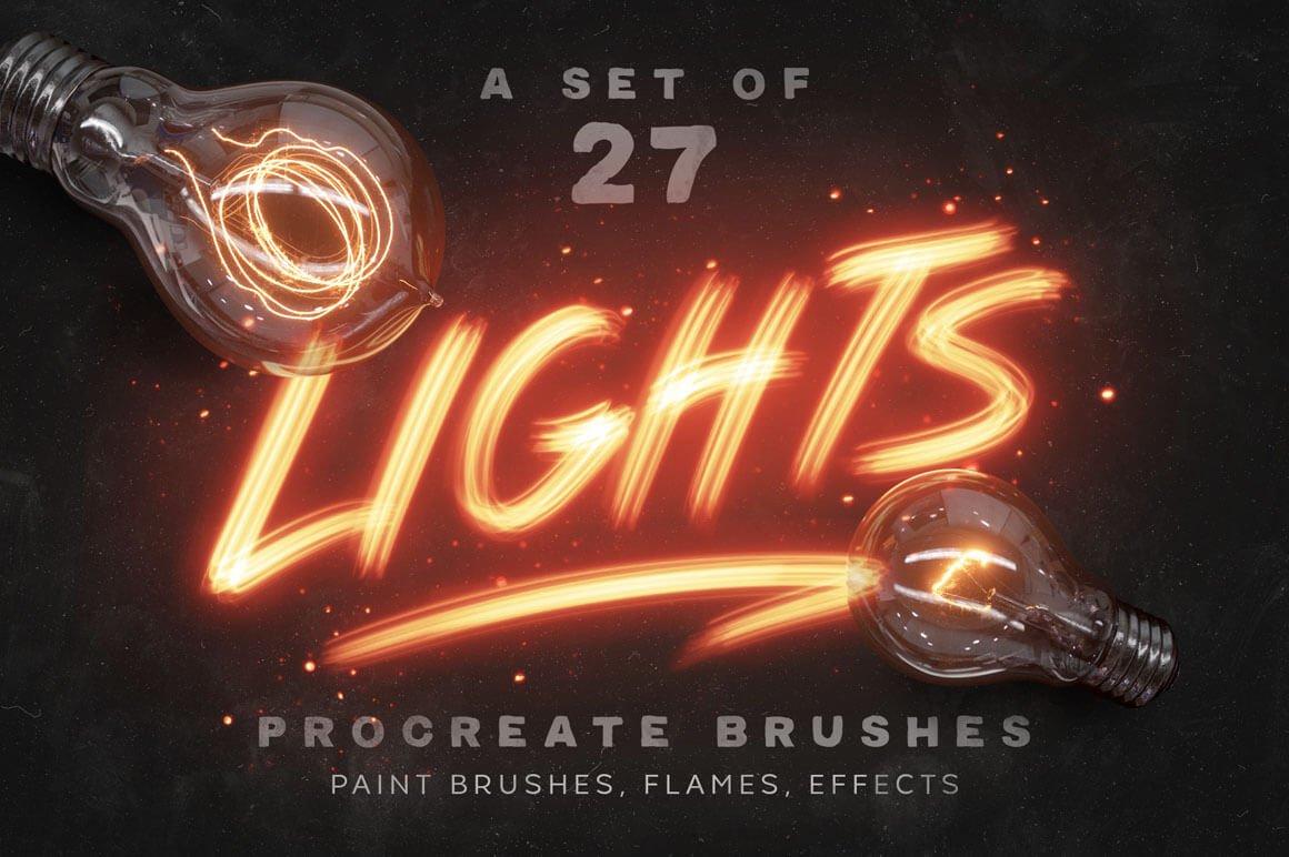 Lights Procreate Brushes - Acrylic Brushes for Procreate