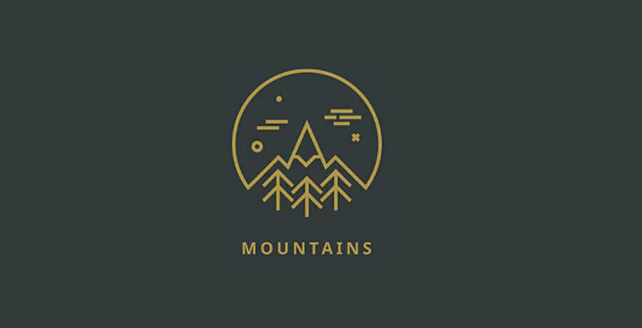 Mountains Logo - Inspirational Flat Logo Designs
