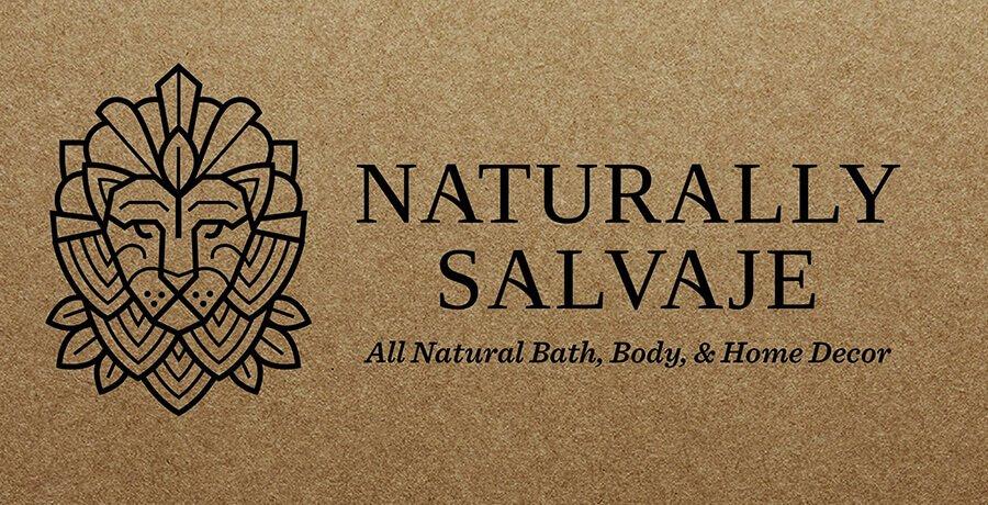 Naturally Salvaje - Art Deco Logo Design