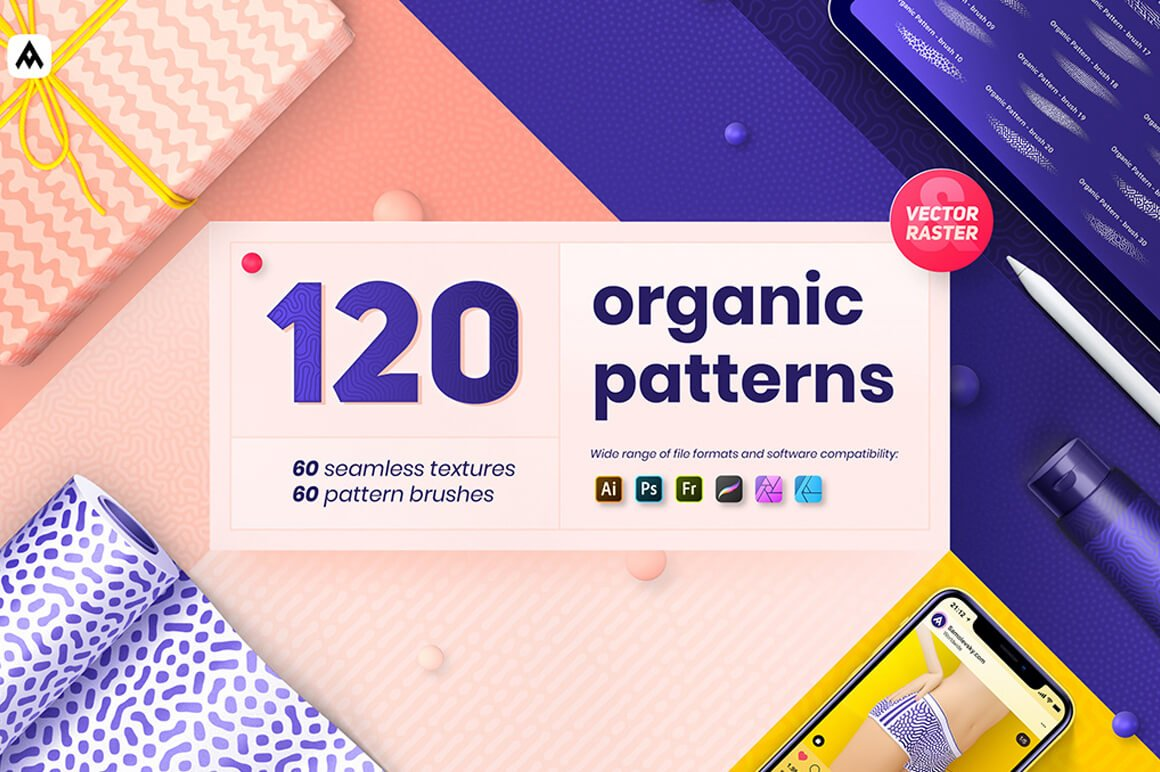 Organic Patterns - Acrylic Brushes for Procreate