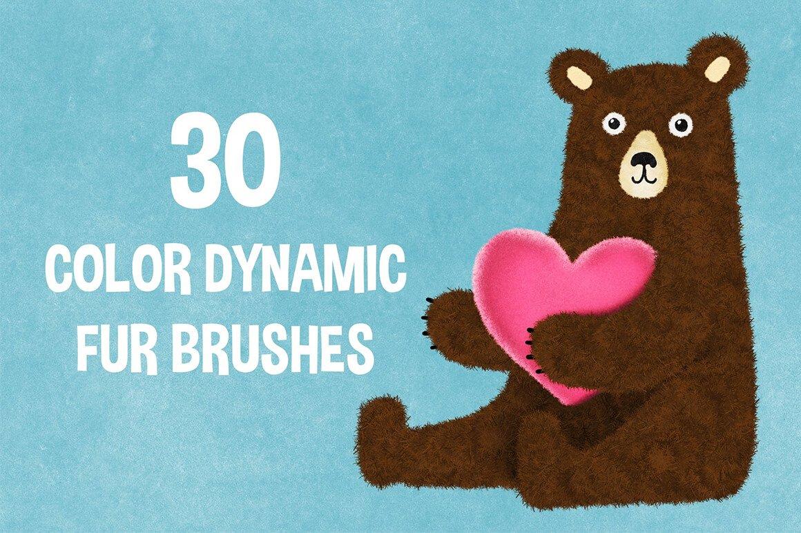Procreate 5 – Faux Fur Brushes