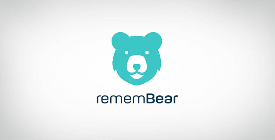 RememBear Logo - Inspirational Flat Logo Designs