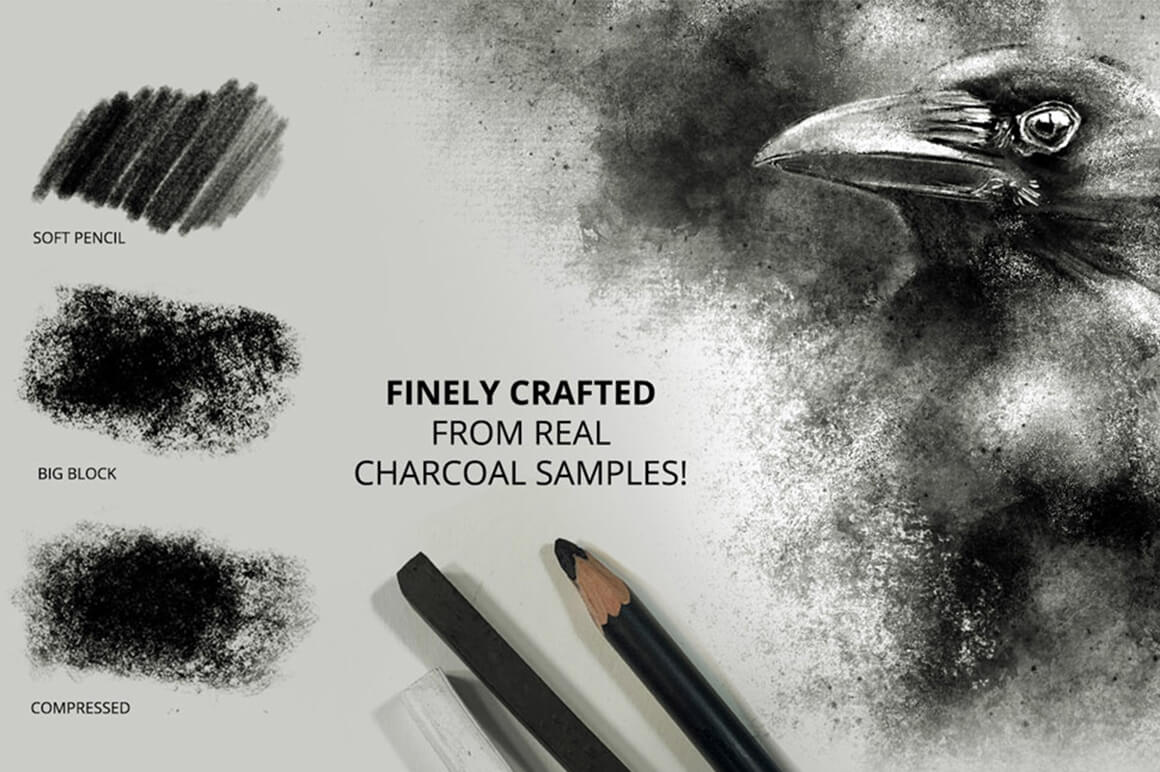 Ultimate Brush Toolbox – Charcoal Brushes
