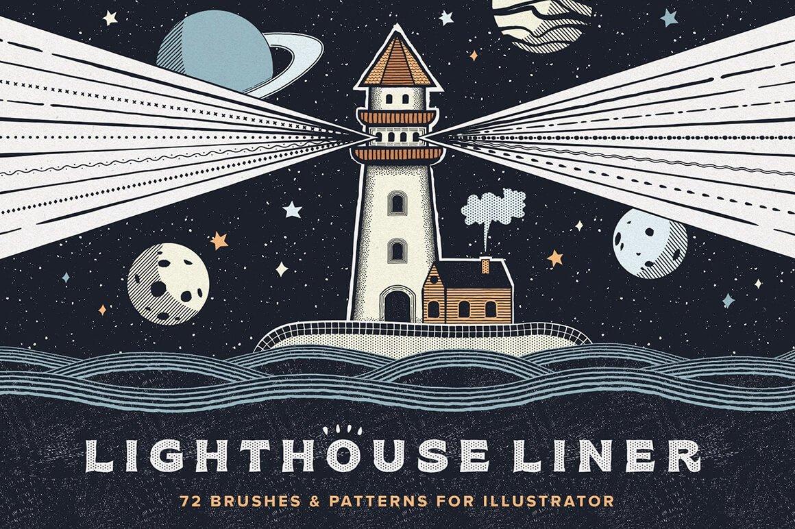 Lighthouse Liner Illustrator Brushes