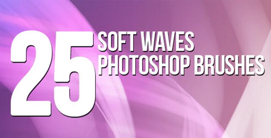 Photoshop Drawing Brushes - 25 Soft Waves Photoshop Brushes