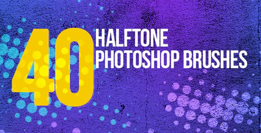 Buy Photoshop Brushes - 40 Halftone Photoshop Brushes