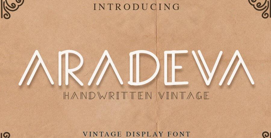Vintage Fonts - Aradeva Font