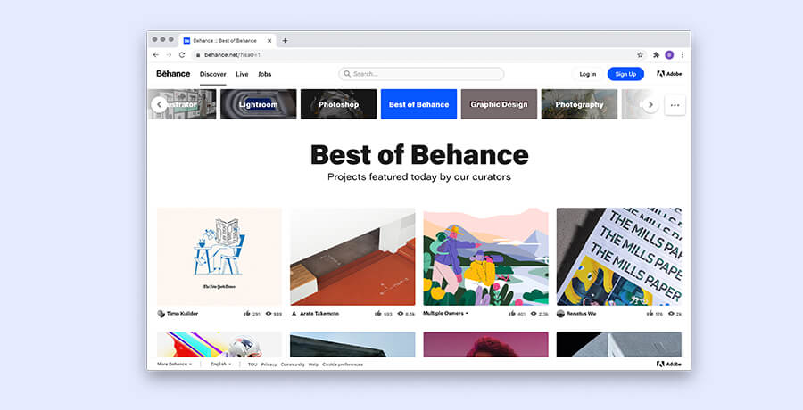 Best For Graphic Designs - Behance