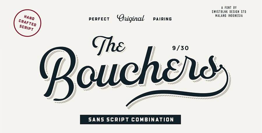 Free Retro Fonts - Bouchers