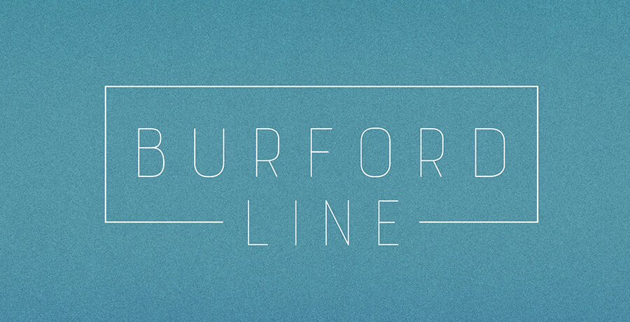 Fonts For Posters - Burford Line