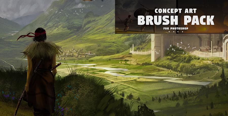 Photoshop Brushes - Concept Art Brush Pack