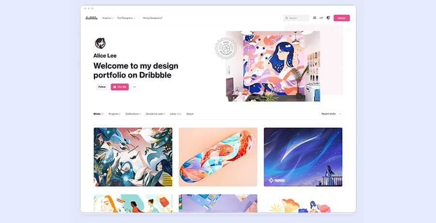 Best For Graphics Designers - Dribble
