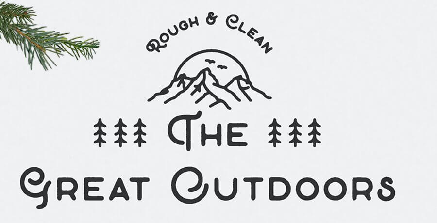Retro Fonts Free - The Great Outdoors
