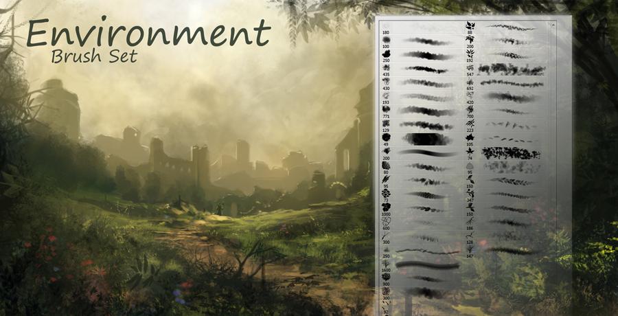 Buy Photoshop Brushes For Designers - Environment Brushes