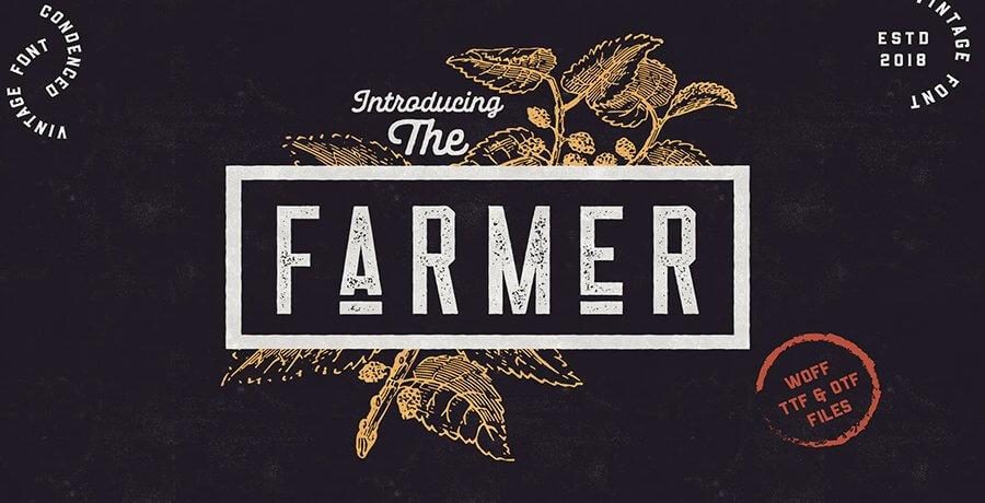 Best Retro Fonts - Farmer
