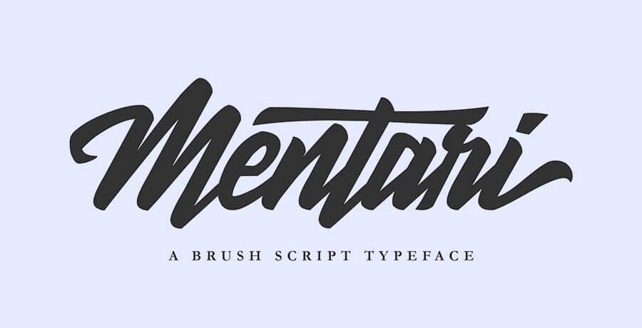 Best Premium Fonts - Mentari