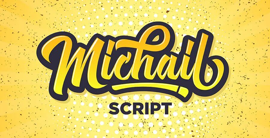 Free Retro Fonts -  Michail