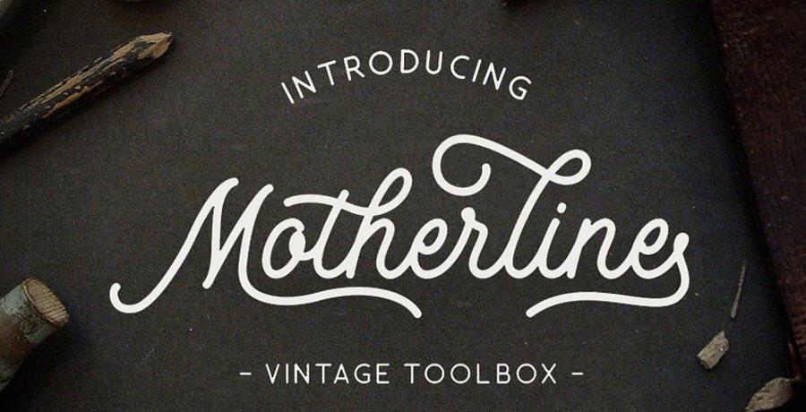 Vintage Font - Mother Line