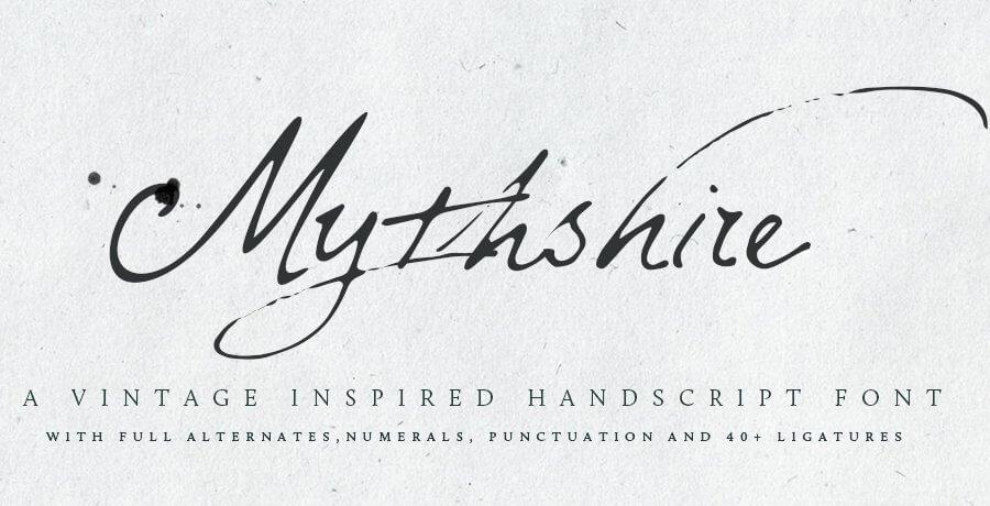 Premium Font  - Mythshire