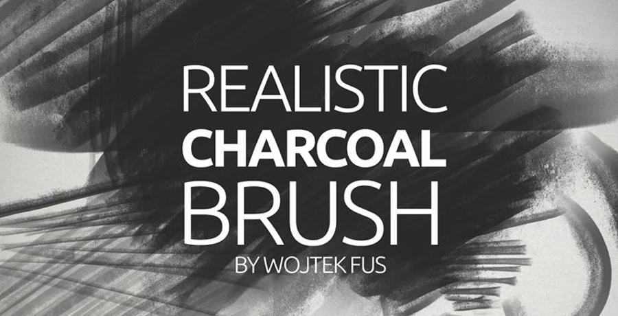 Paid Photoshop Brushes - Realistic Charcoal Photoshop Brush