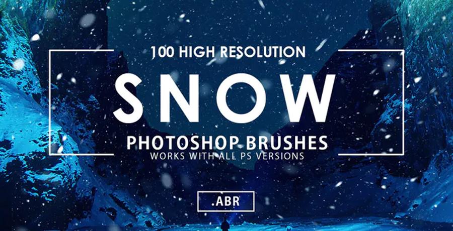 Buy Photoshop Brushes For Designers - Snow Photoshop Brushes