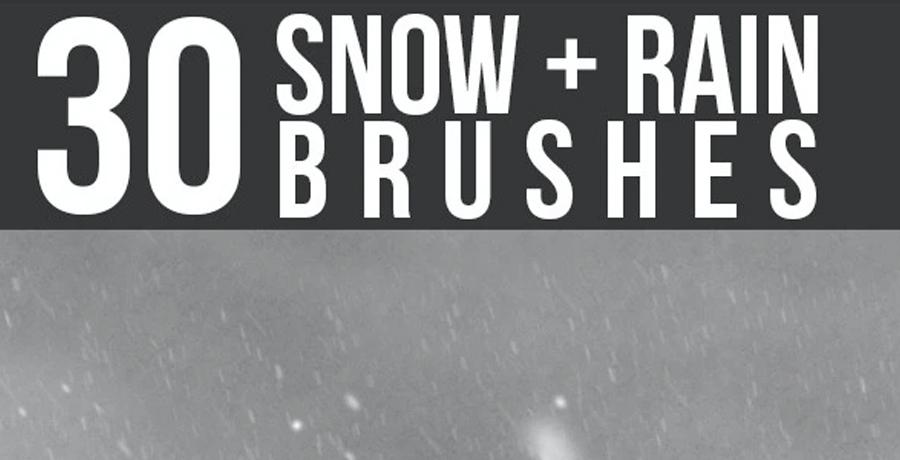 Buy Photoshop Brushes - Snow & Rain Brushes