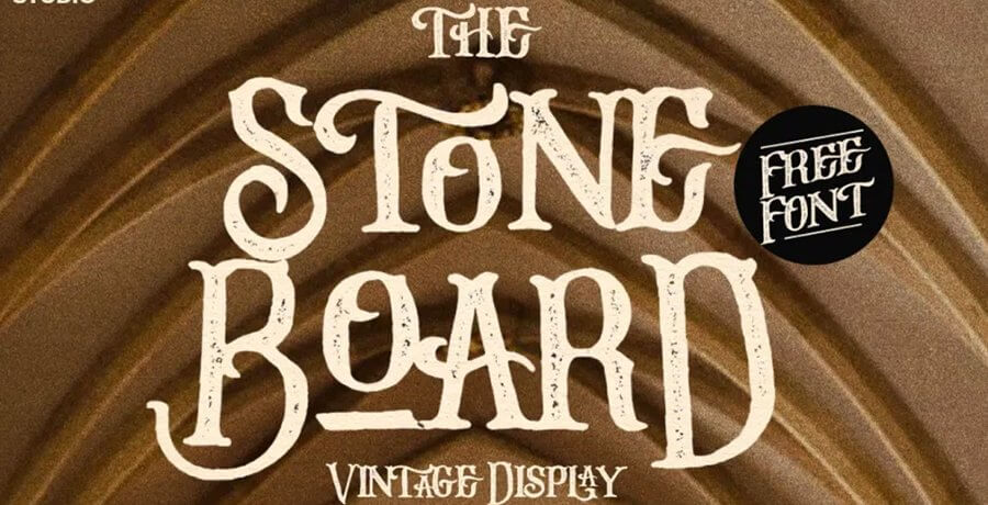 Free Retro Fonts - Stone Board