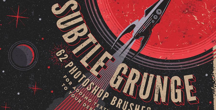 Paid Photoshop Brushes - Subtle Grunge Photoshop Brushes
