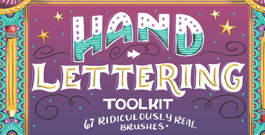 Buy Photoshop Brushes For Designers - The Hand Lettering