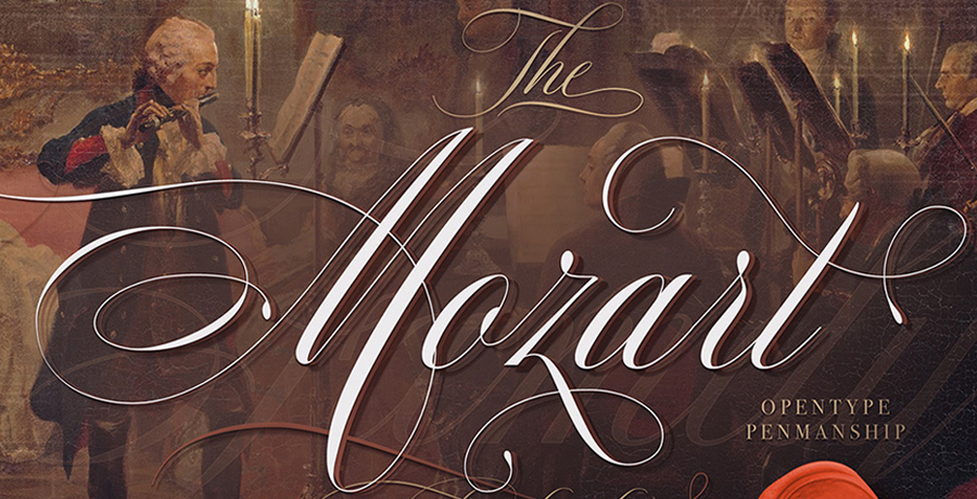 Poster Font For Designers - The Mozart Script