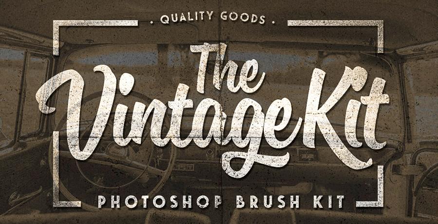 Photoshop Brushes For Designers - The Vintage Kit