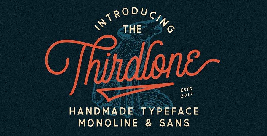 Premium Retro Fonts - Thirdlone Font