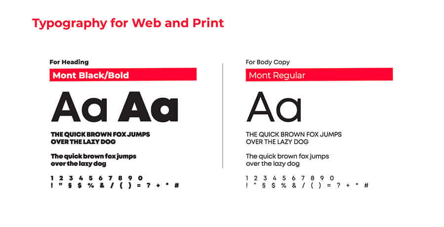 Brand Style Guide - Typography Font