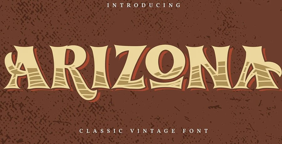 Vintage Fonts For Graphic Designers - Arizona