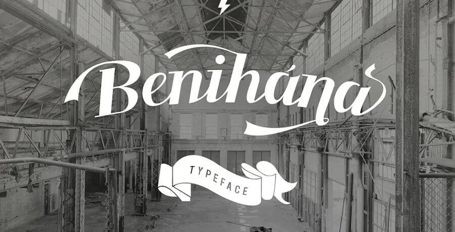 Free Vintage Fonts - Banihana