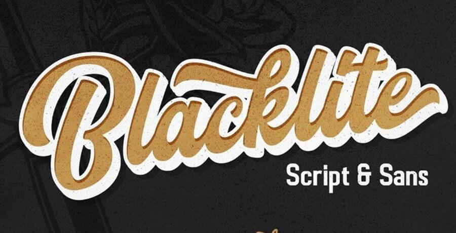 Best Vintage Font - Blacklite
