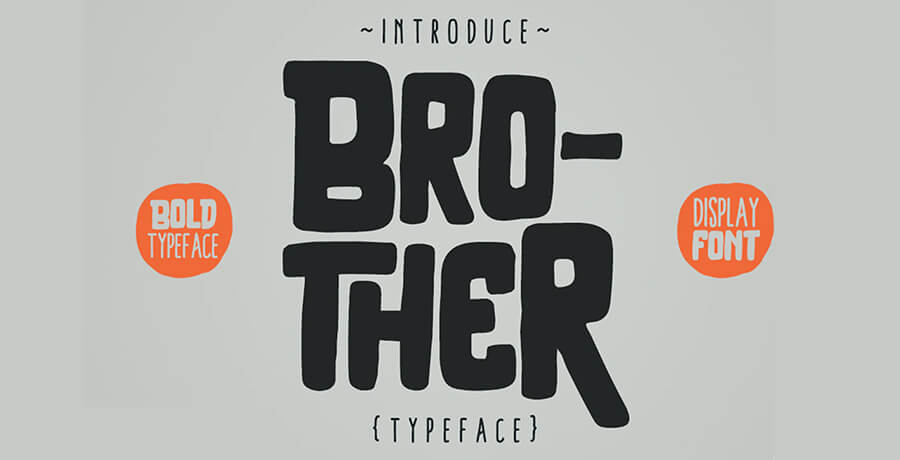 Fonts For Posters - Brother Typeface