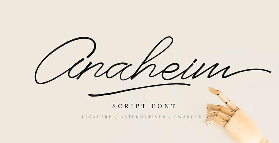 Best Poster Fonts - Anaheim Script
